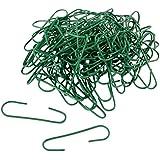 WeRChristmas - Ganci in plastica per palle di Natale, colore: verde