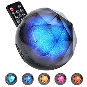 Ball Bluetooth Speaker, Kingstar Wireless Color Changing Misic Play Mobile Phone Remote Disco Party LED Colorful Rainbow Lighting Home Bedroom Bookshelf Hi-fi Mp3 Speakers TF
