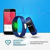 【Neue Version】 Fitness Tracker,Mpow Bluetooth 4,0 Fitness Armbänder mit Pulsmesser,Smart Fitness Tracker mit Herzfrequenzmesser, Schrittzähler, Schlaf-Monitor, Aktivitätstracker, Remote Shoot, Anrufen / SMS, finden Telefon für Android iOS Smartphone wie iPhone 7/7 Plus/6S/6/6 Plus, Huawei P9. - 3