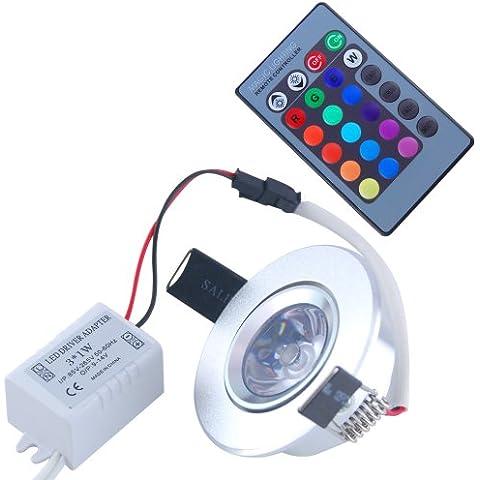 THG 10 X 100 -240V 3W 16 CLIP color Ronda empotrada 4 modos de color que cambia la luz de techo del LED para Navidad Foil Ambiente con control remoto IR 24keys