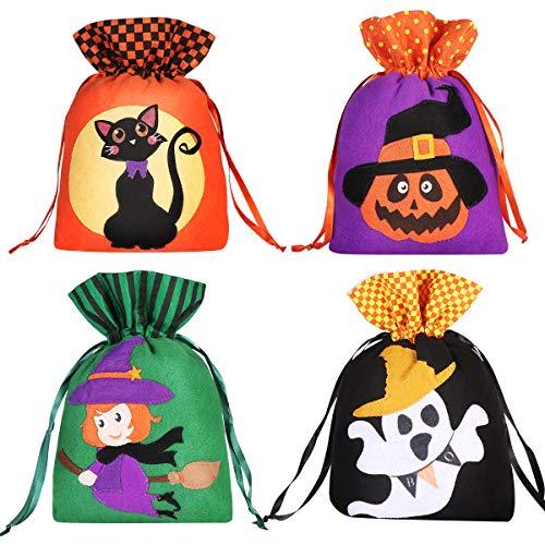 Halloween Dekoration Geister - HEMOTON 8pcs Halloween Candy Taschen Geschenk