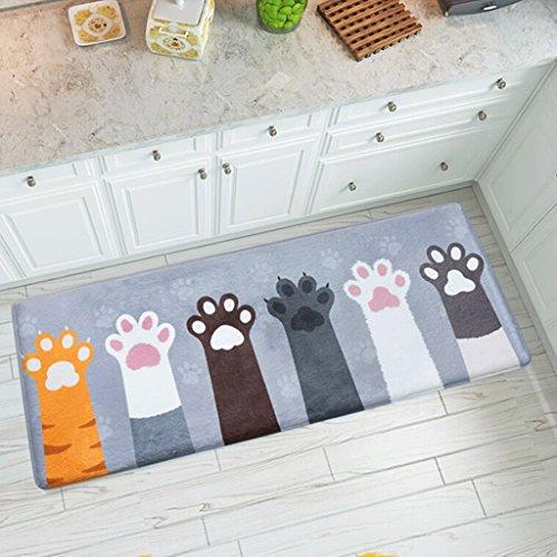 QZz Baño Alfombrillas de baño Baño de puerta con alfombrilla de cocina Alfombrillas de baño Alfombrilla de baño absorbente ( Tamaño : 45x120cm )