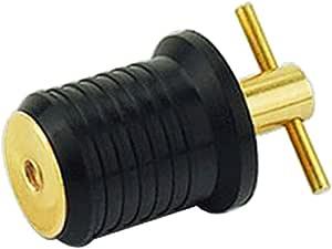Brass /& Rubber Heavy Duty Almencla 1 Inch New T-Handle TWIST-IN Boat DRAIN PLUG