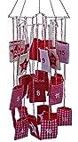 Adventskalender Mobile Stern rot weiss zum Befüllen