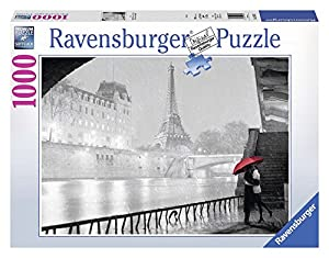 Ravensburger- Puzzle Paris B/N 1000 PZAS, 37.1 x 27.2 x 5.6 (19471 1)