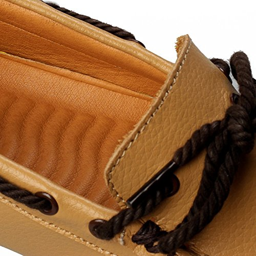 SK Studio Herren Mokassins Mit Quasten Weich Leder Schuhe Männer Freizeit Slipper Atmungsaktiv Fahren Schuhe Loafers Halbschuhe Gelb