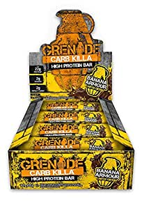 Grenade Carb Killa High Protein and Low Carb Bar, 12 x 60 g - Banana Armour