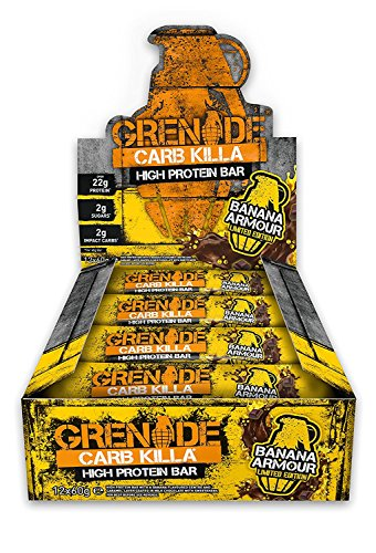 Grenade Carb Killa High Protein and Low Carb Bar, 12 x 60 g - Peanut Nutter Test