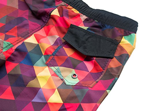 iPretty Herren Sommer Strand Shorts Badeshorts Badehose Boardshorts mit Muster Karo ohne innennetz