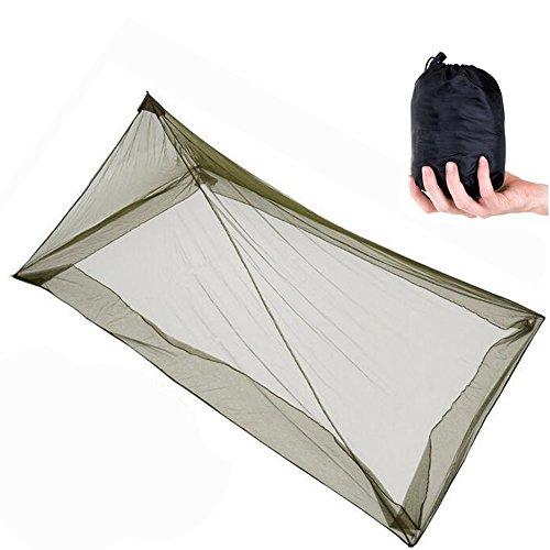 Moskitonetze im Freien, ANGTUO einzelnes Dreieck-Moskitonetz für das Kampieren (220 * 120 * 100cm) (Portable Pavillon)