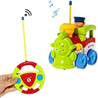 Cartoon R/C Train Car Radio Control Toy for Toddlers by Liberty Imports (ENGLISH Packaging) by Liberty Imports