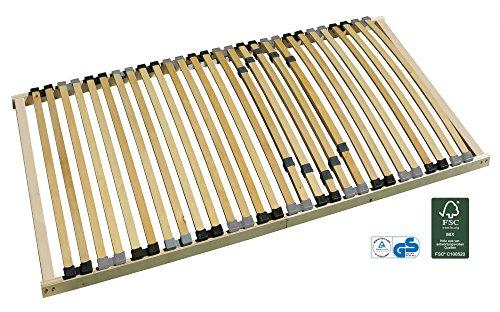 7-Zonen-Lattenrost starr 140×200 cm mit individueller Härtegradverstellung