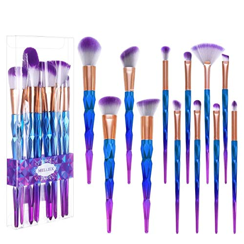 12 Stück Make Up Pinsel Set Einhorn Kosmetik Pinsel Lidschatten Gesichtspinsel Foundation Eyeliner Schminkpinsel