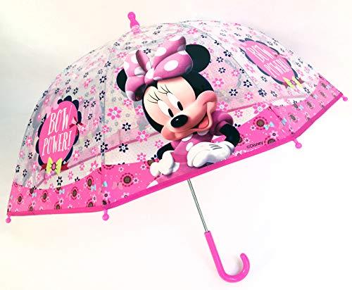 Chanos Chanos Minnie Manual Dome Shape Poe Transparent Folding Umbrella, 45 cm, Light Pink Parapluie Pliant, Rose (Light Pink)