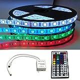 KOMPLETT SET: 5m - 30m LED RGB mehrfarbig Strip/Leiste / Streifen/Stripes wasserfest mit Netzteil + Controller + Fernbedienung (20m (4x 5m))