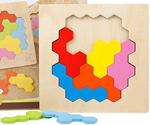 Différents cadeaux à vos bébés Haute Qualité En Bois Coloré Coloré Coloré Puzzle Précoce D'apprentissage Nombre Formes Couleur Animal Jouet Fantastique Cadeaux Pour Les  s (nid d'abeille) 7f7563