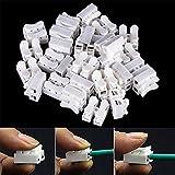 Interesting® 50 Stücke CH-2 Elektrische Draht Kabelstecker 2 P selbstsichernde Splice Terminal Schnittstelle