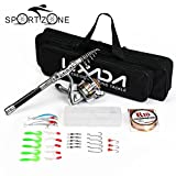#7: Black, 2.4m : 1.5m 1.8m 2.1m 2.4m Telescc Fishing Rod Reel Combo Full Kit Sea Fish Pole Spinning Reel Set With Line Lure In Bag Case Pesca