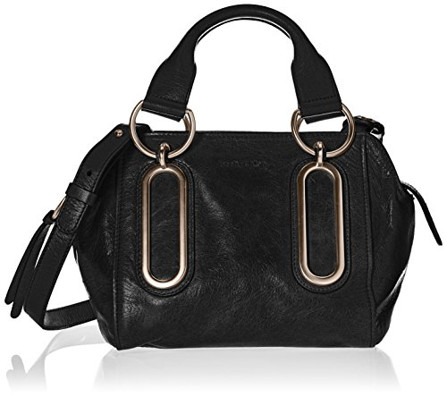 "BORSA A MANO IN PELLE NERA PAIGE ""SEE BY CHLOE'"""