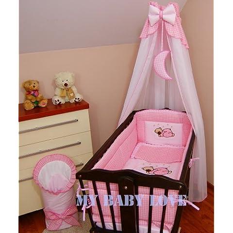 Drape con copertura con supporto stabile per dondolo per culla, cestino di vimini/craddle MOON), colore: rosa