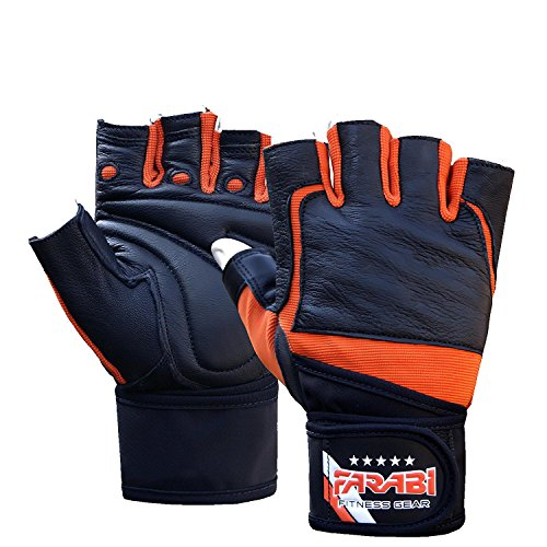 farabi-weight-lifting-gym-training-wrist-support-bar-gloves-leather-medium