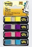 Post-it Haftstreifen Index Mini 683-4AB – Farbige Haftnotizen im extra kleinen Format 11,9 x 43,2 mm – 4 Haftstreifen Blöcke à 35 Blatt in 4 Farben im praktischen Spender