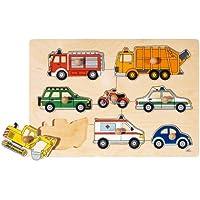Goki 57996 - Steckpuzzle - Verkehrsmittel