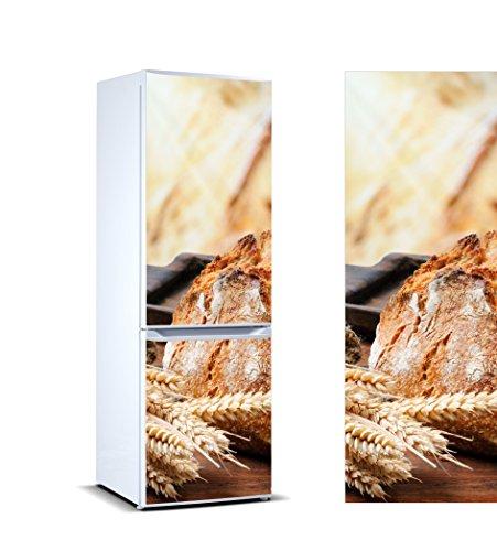 Pegatinas Vinilo para Frigorífico Espigas Trigo y Pan | Varias Medidas 185 x 60 cm | Adhesivo Resistente y de Fácil Aplicación | Pegatina Adhesiva Decorativa de Diseño Elegante