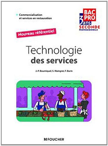 Technologie des services Sde Bac Pro