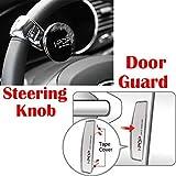 #8: Riderscart I-Pop Car Steering Knob Door Guard with I-POP Car Door Guard with 3M Sticker for Maruti Alto K10