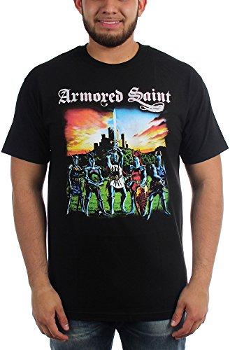 Armored Saint-Mens marzo del Saint-Maglietta nero Large
