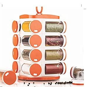 Tosmy  16  Jar Revolving Masala / Spice  Rack , Colour may Vary