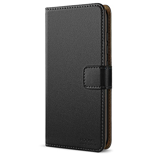 HOOMIL Handyhülle für Huawei P9 Lite Hülle, Premium PU Leder Flip Schutzhülle für Huawei P9 Lite Tasche, Schwarz