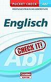 Pocket Check Abi Englisch (Cornelsen Scriptor - Pocket Check)