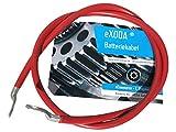 eXODA Batteriekabel 50 mm² 100cm Kupfer Stromkabel mit Ringösen M10 Rot 12V KFZ Kabel