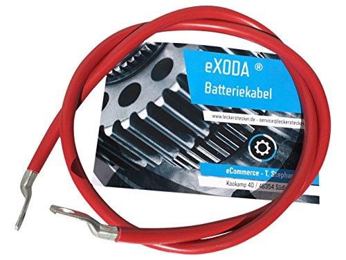 eXODA C/âble de Batterie 500cm c/âble dalimentation en cuivre 35 mm/² avec cosses /à /œillets M8 Noir 12V c/âble de Voiture