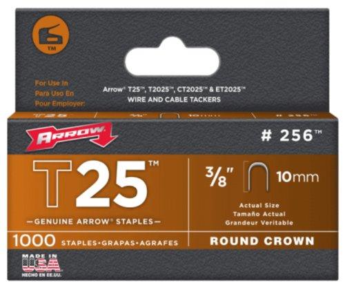 Arrow 160640 T25 Pack de 5000 Cavaliers 10 mm pour câble ø 6 mm