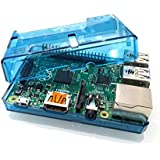 Case bleu transparent pour Raspberry Pi modèle B + (B Plus), le mode Pi Framboise B + Bleu Transparent Case / Box