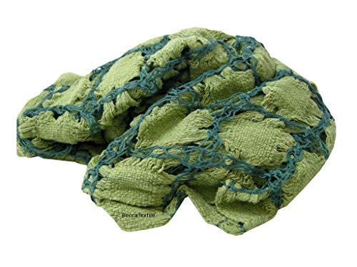 Plaid verde, chal, pañuelo,manta decorativa, tejido
