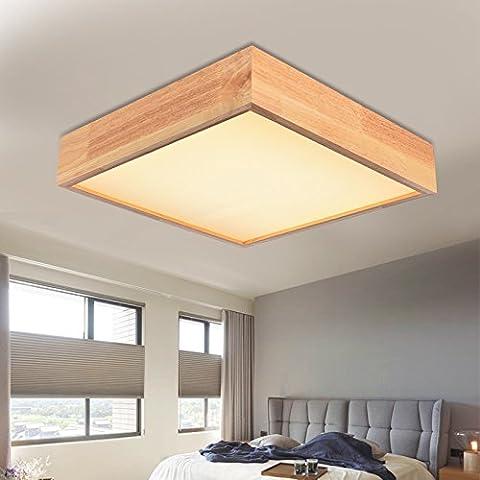 LINA-Retro Vintage colgante tonos claros contemporáneo colgante techo techo Metal luz iluminación lámpara Madera de registro led lámpara de techo , 48*48cm