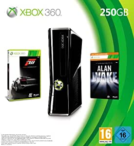 Xbox 360 - Konsole Slim 250 GB inkl. Forza 3 (auf zwei DVDs) + Alan Wake (als Download-Code für Xbox LIVE)