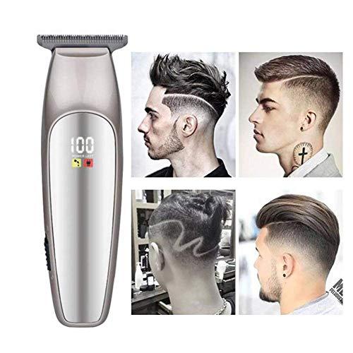 UIOWYBCOD Haarschneidemaschine schnurlose LED Ölkopf Gravur Fader