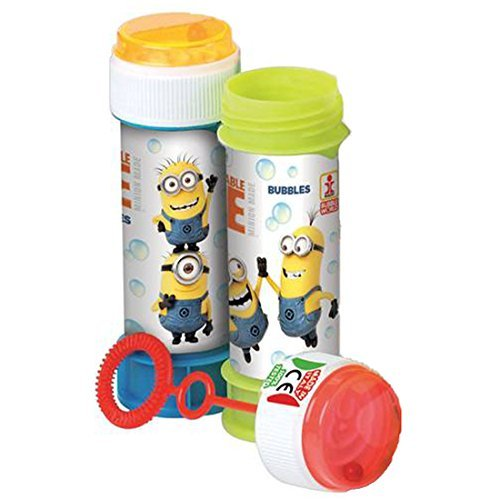 Guaranteed4Less 24Despicable Me Minion Kids Party Blow Bubbles Geburtstag Spielzeug Tasche Füllstoffe Spiel 60ml (Party-spiele Despicable Me)