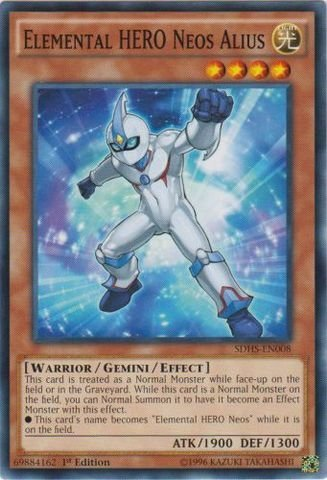 Yu-Gi-Oh! - Elemental HERO Neos Alius (SDHS-EN008) - Structure Deck: HERO Strike - 1st Edition - Common by Yu-Gi-Oh! - Hero Deck Yu-gi-oh