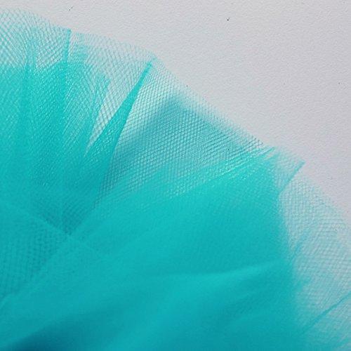 On Trend Fabrics Brillante turquesa azul/verde Tejido de tul fina Red de 300cm de ancho–se vende por metro–apto para bailes, enaguas, velo, pleating & ruching