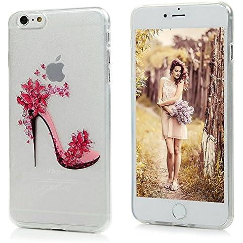 iPhone 6 plus / iPhone 6S plus Carcasa TPU Suave Funda, YOKIRIN pintado Cover Case Moviles Libres Pintado Protective Protectora - talones de la mariposa