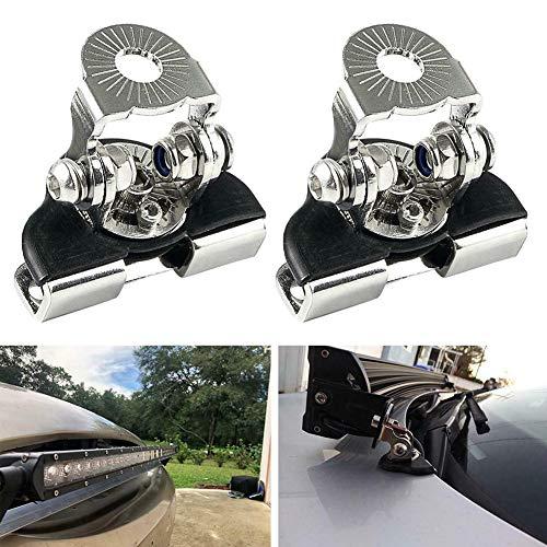 NAttnJf 1 Paar Motorhaube LED Lampe Arbeitslichtleiste Metall Montagehalterung Halter Ständerhalterung