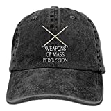 Hoswee Cappellino da Baseball/Berretto da Baseball, Weapon of Mass Percussion Plain Adjustable Cowboy cap Denim Hat for Women And Men
