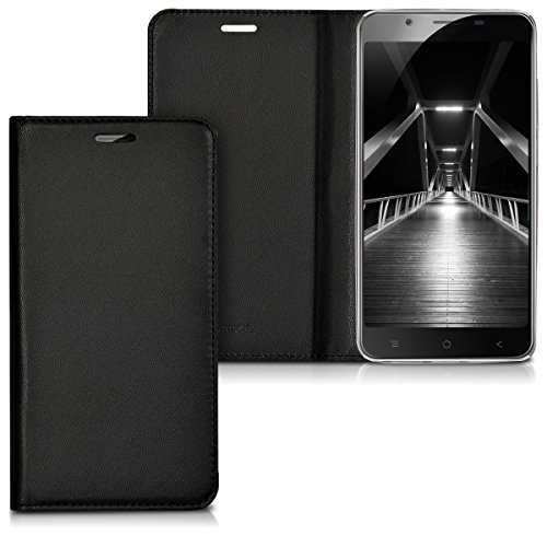 kwmobile Blackview P2 / P2 Lite Hülle - Kunstleder Handy Schutzhülle - Flip Cover Case für Blackview P2 / P2 Lite