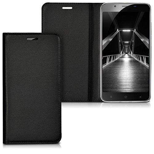 kwmobile Blackview P2 / P2 Lite Hülle - Kunstleder Handy Schutzhülle - Flip Cover Case für Blackview P2 / P2 Lite